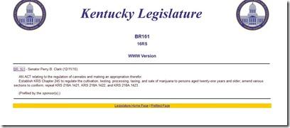 KyLRC 12.17.15 Ky Cannabis Freedom Act homepage